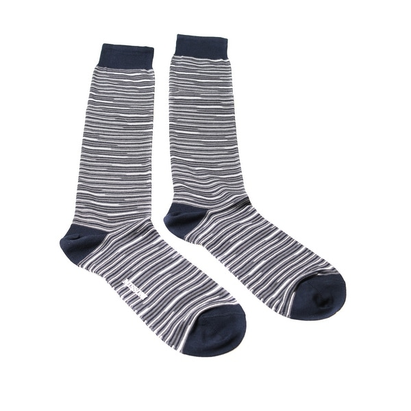 Missoni GM00CMU5232 0004 Gray/White Knee Length Socks