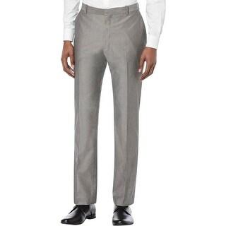 Perry Ellis Mens Dress Pants Slim Fit Chambray
