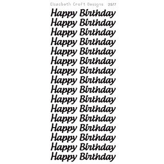 Happy Birthday Large Peel-Off Stickers-Black - Black