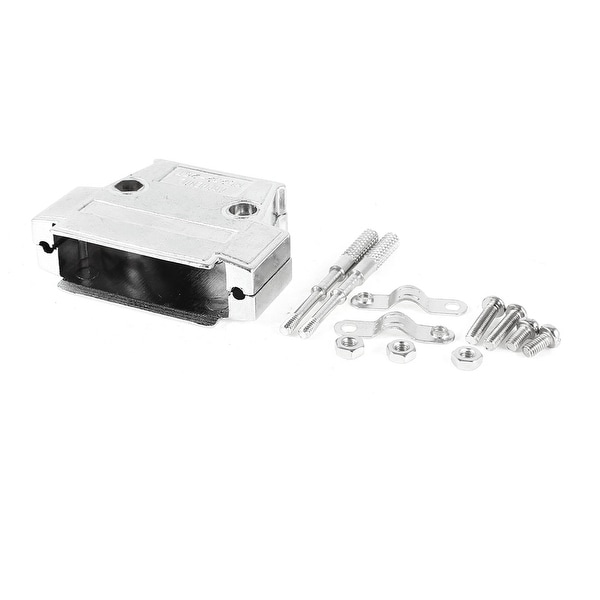 Unique Bargains Aluminium DB25 D-SUB 25Pin Connector Backshell Shell Cover Hood Housing