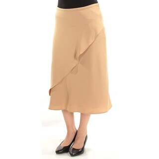 RALPH LAUREN $115 Womens New 1346 Beige Maxi A-Line Wear To Work Skirt 4 B+B