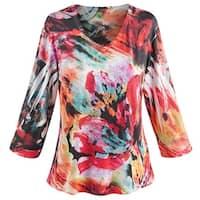 Women's Heartsong Knit Top - 3/4 Sleeve Flowing Shirt