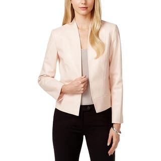 Tahari Womens Petites Jacket Faux Leather Collar - 10P|https://ak1.ostkcdn.com/images/products/is/images/direct/0f5d09ff243df7a140338ca504a029c5caa97e7b/Tahari-Womens-Petites-Jacket-Faux-Leather-Collar.jpg?impolicy=medium