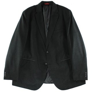 Alfani NEW Men's Black Size 2XB Big & Tall Two Button Sport Coat