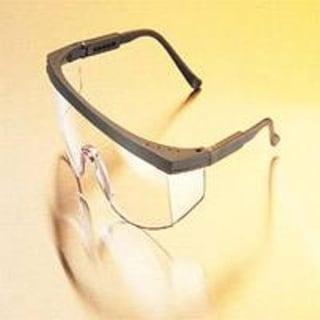 Msa Safety Works 697550 Safety Glasses, Black Clear