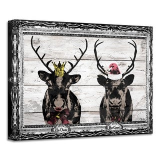 Link to Ready2HangArt 'Vixen & Comet' Holiday Canvas Wall Art by Olivia Rose Similar Items in Christmas Decorations
