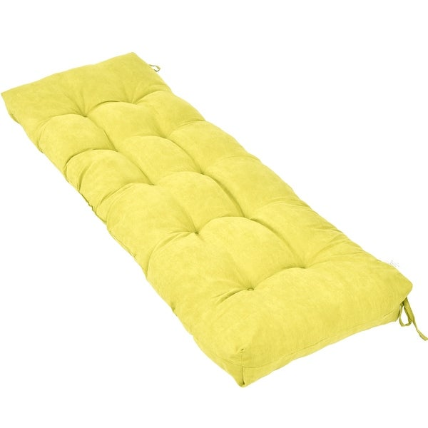 Shop Costway 51 Inch Bench Cushion Tufted Pillow Indoor Outdoor Swing Glider Sit Seat Kiwi
