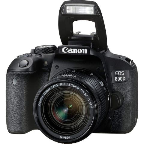Canon EOS 800D Digital SLR with 18-55 is STM Lens Black