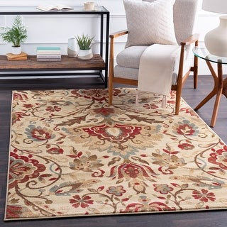 Chino Transitional Damask Area Rug