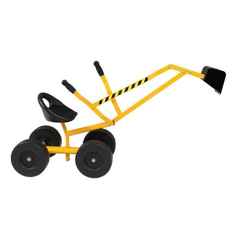 Kids Ride-On Sand Digger Sand Excavator Toy - N/A
