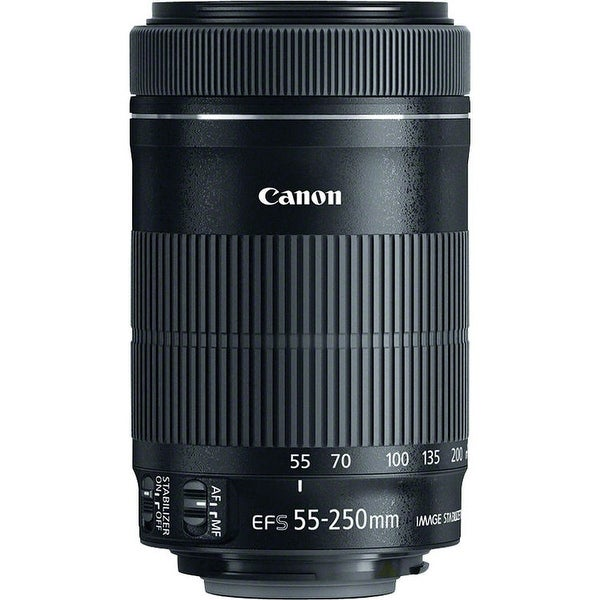 Canon EF-S 55-250mm f/4-5.6 IS STM Zoom Lens - Black