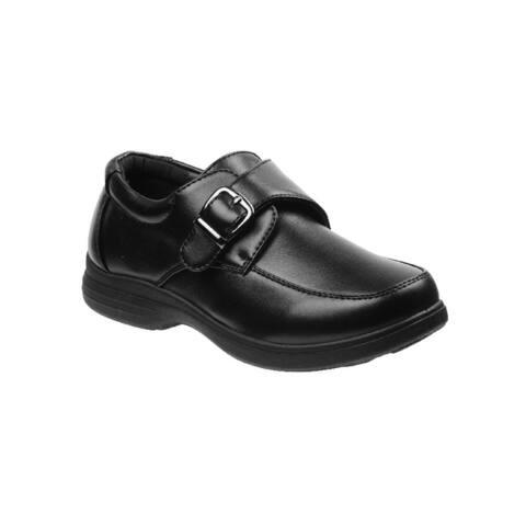 Josmo Boys Black Buckle Dress Shoes