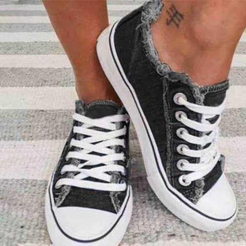 Flat Heel Fall Casual Sneakers