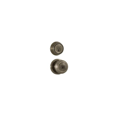 Weslock 640Z-671 Single Cylinder Keyed Entry Savannah Door Knob Set and 671 Deadbolt Combo Pack with Round Rosette From The