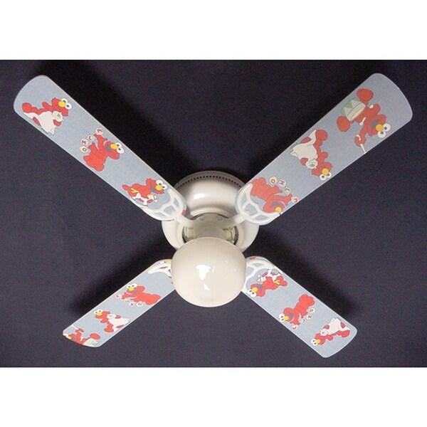 Mattel Baby Elmo Nursery Print Blades 42in Ceiling Fan Light Kit - Multi