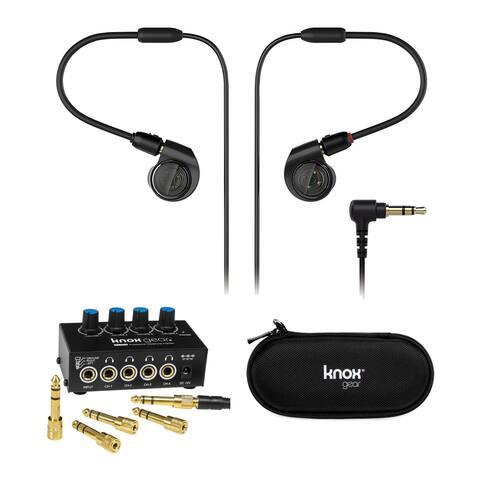 Audio-Technica ATH-E40 Professional Headphones with Amplifier Bundle