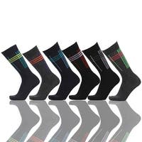 Abstract lines Print Men's Cotton 6 Pairs Dress Socks (Size 10-13) 6 Assorted Pairs