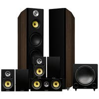 Fluance Signature Series Surround Sound Home Theater 7.1 Channel System - Walnut (HF71WR)