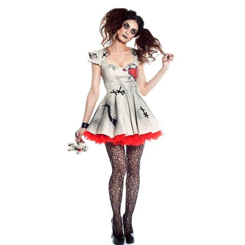 Voodoo Doll Vixen Costume, Voodoo Doll Costume - As Shown