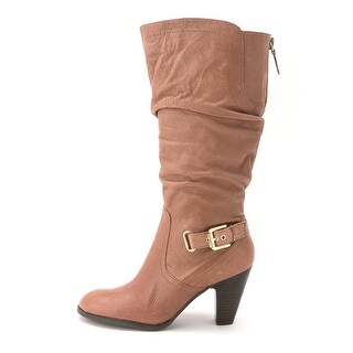 GUESS Womens Mallay (Wide Calf) Leather Almond Toe Mid-Calf Fashion Boots