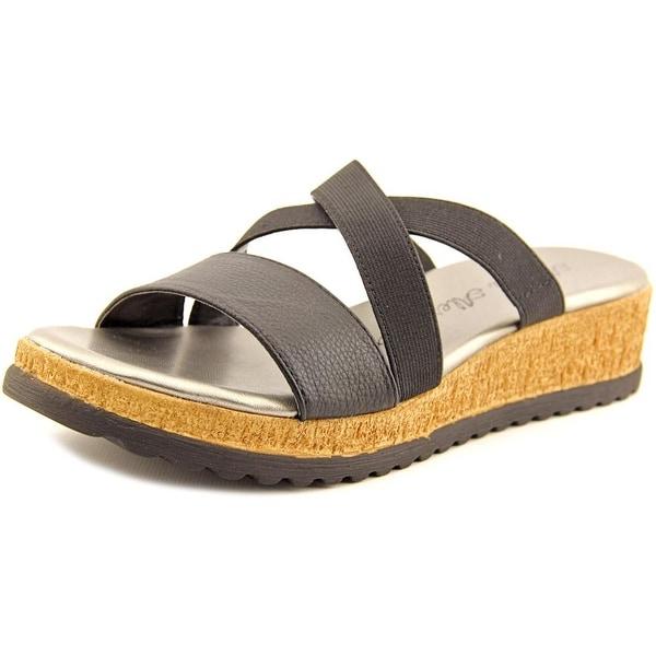 Athena Alexander Blast Women Open Toe Synthetic Black Slides Sandal