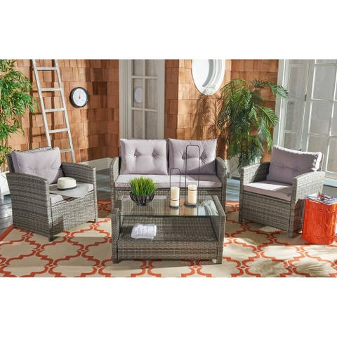 Safavieh Outdoor Living Vellor 4-piece Living Set