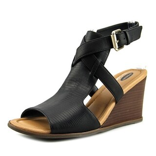 Dr. Scholl's Celine Women  Open Toe Synthetic Black Wedge Heel