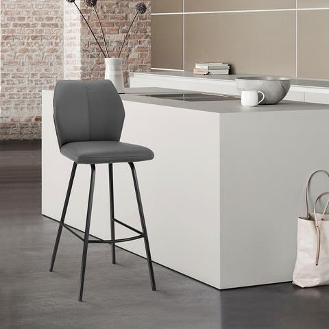 Tandy Faux Leather and Metal Bar or Counter Stool