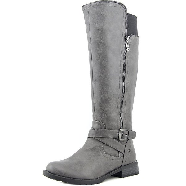 G By Guess Halsey   Round Toe Synthetic  Knee High Boot