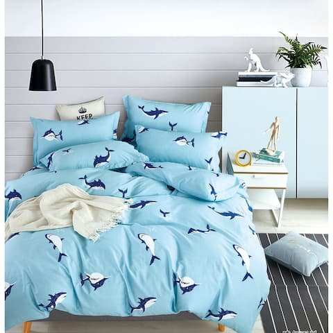 Leighton Kids Ocean Shark 100% Cotton Comforter Set