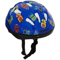 Kent 97520 Toddler Bicycle Helmet, Blue With Robots
