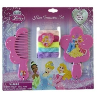 Disney Princess 7 pc Hair Accessory Set - Vanity Set - Princess Hair Set by Disney