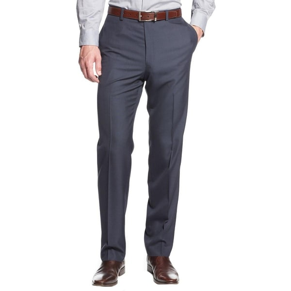 Calvin Klein Mens Dress Pants Slim Fit Flat Front