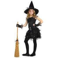 Girls Glitter Witch Costume