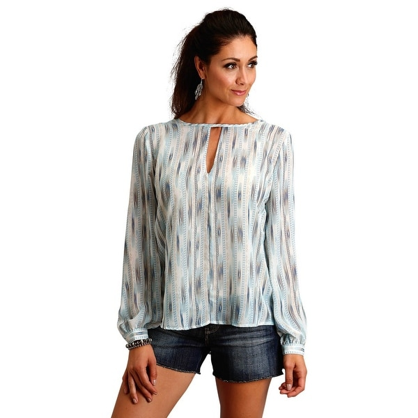 fae9810e Shop Stetson Western Shirt Womens Long Sleeve Green - Free Shipping Today -  Overstock - 28327600