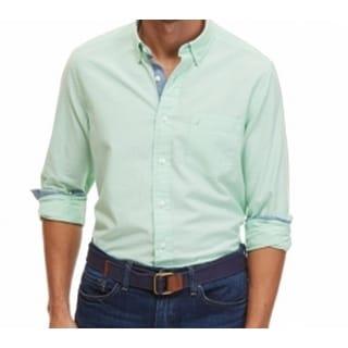 Nautica NEW Green Ash Mens Size Large L Button Down Oxford Shirt