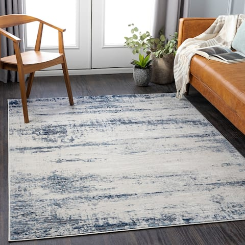 Truvy Distressed Modern Area Rug