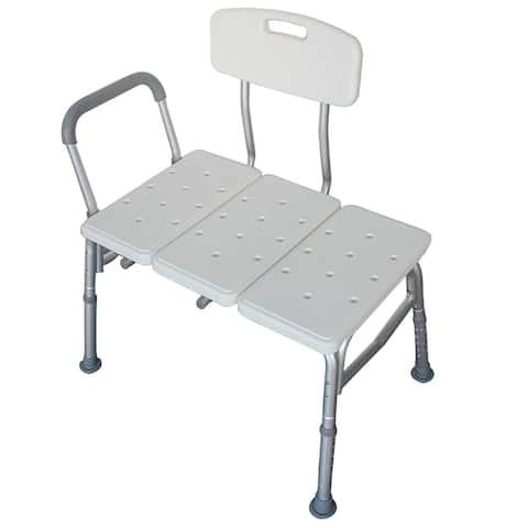 3 Blow Molding Plates Aluminum Alloy Elderly Bath Chair White