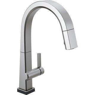 Delta 9193T-DST  Pivotal 1.8 GPM Single Hole Pull Down Kitchen Faucet with with On/Off Touch Activation, Magnetic Docking Spray
