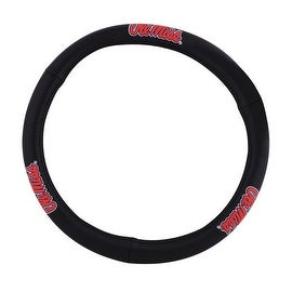 Pilot Automotive Black Leather University of Mississippi Ole Miss Car Auto Steering Wheel Cover