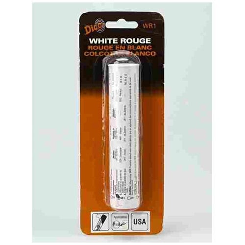 Dico Products 531-WR1 Buffing Compound 3.5 Oz. Tube, White Rouge