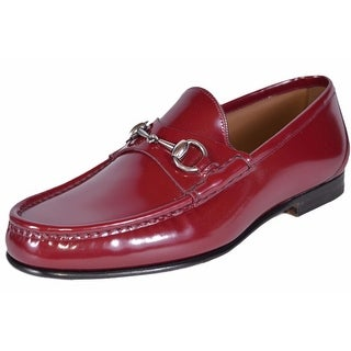 Gucci Men's 387598 Red Patent Leather Horsebit Loafers Shoes 6.5 G 7.5 US