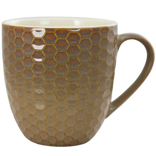 Elama EL-Honeybee Honey Bee 6-Piece 15 oz Multicolor Mug Set 15oz Assorted Colors