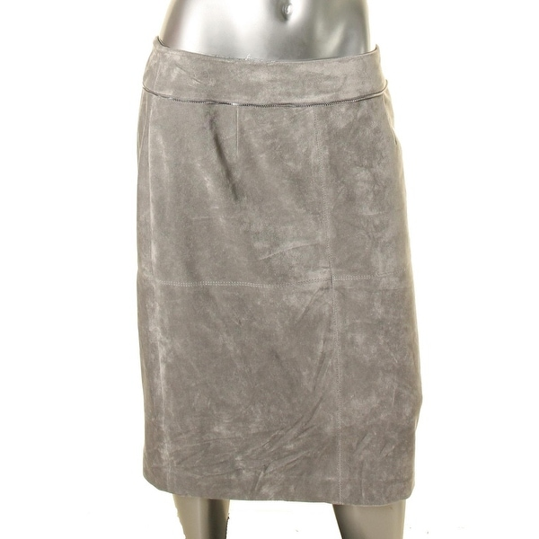 2ce6de54f4 Shop Calvin Klein Womens Pencil Skirt Faux Suede Zipper Trim - Free  Shipping On Orders Over $45 - Overstock - 18530030