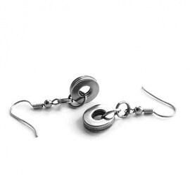 Loralyn Designs Stainless Steel Simple Circle Dangle Earrings