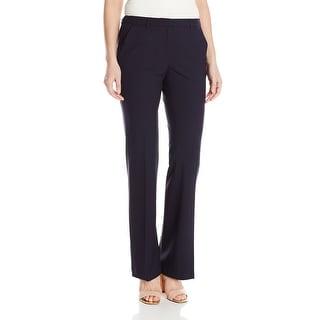 Ellen Tracy NEW Navy Blue Womens Size 6 Flat Front Flare Leg Dress Pants
