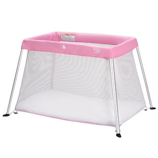 Link to Portable Lightweight Baby Playpen Playard with Travel Bag-Pink Similar Items in Activity Gear