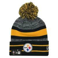 buy online 56d28 c2875 New Era 2019 NFL Pittsburgh Steelers Cuff Pom Knit Hat Beanie Stocking  Winter