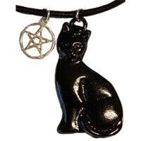 Black Cat & Pentagram amulet