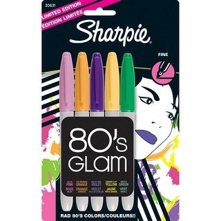 Sharpie Fine Point Permanent Markers 5/Pkg-80's Glam